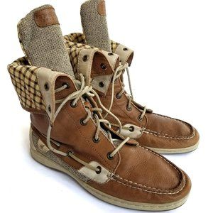 Sperry Sz 10 Topsider Ladyfish High Top Tall Boots